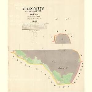 Hazowitz - m0679-1-004 - Kaiserpflichtexemplar der Landkarten des stabilen Katasters
