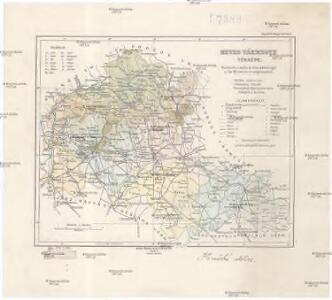 Heves vármegye térképe
