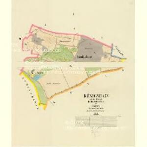 Königshain - c3497-2-001 - Kaiserpflichtexemplar der Landkarten des stabilen Katasters