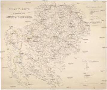 Strassen-Karte der Croatischen Militair-Grenze