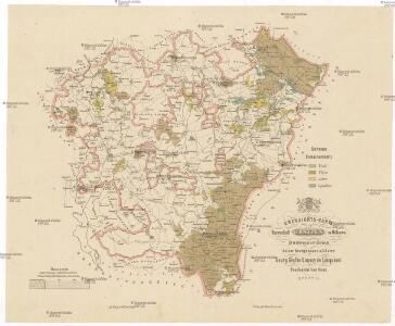 Übersichts-Karte der Herrschaft Gratzen in Böhmen Budweiser Kreis