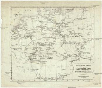 Eisenbahn Karte von Deutschland u. den angrenzenden Ländern