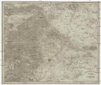 Topographische Karte der Gegend von Wien