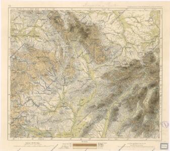 Orohydrographisches tableau aus der überschts-karte von Mittel -Europa
