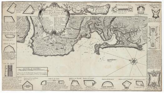 Plan de la baye et ville de Cadis de la riviere de St. Lucas de Barameda de ses environs