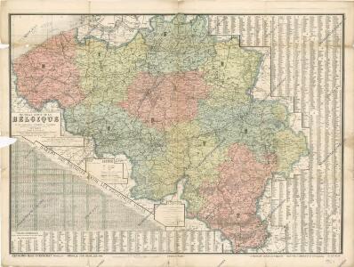 Nouvelle carte dela Belgique et des territoires d'Eupen et Malmedy glorieusement reconquis avec annexion de Montjoie