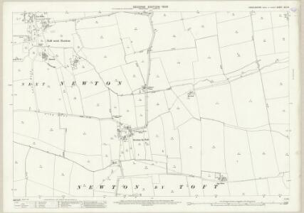 Lincolnshire XLV.14 (includes: Toft Newton; West Rasen) - 25 Inch Map