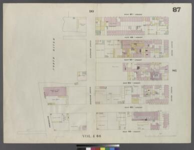 Plate 87: Map bounded by West 27th Street, Tenth Avenue, West 22nd Street, Thirteenth Avenue, Hudson River