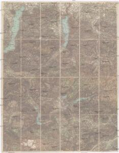 Karte des Salzkammergutes