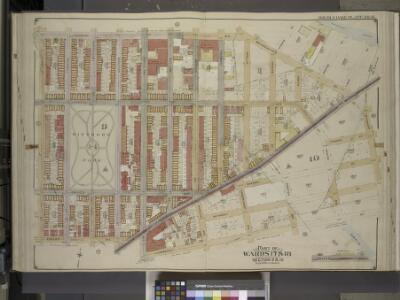 Brooklyn, Vol. 3, Double Page Plate No. 16; Part of   Ward 17 & 18, Section 9 & 10; [Map bounded by Norman Ave., Bridgewater St.,      Vandam St., Newtown Creek Including Stewart St., Lombardy St., Engert Ave. (van  Pelt Ave.), Homboldt St.]; Sub Plan