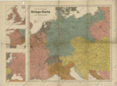 Prof. W. Liebenow's Kriegskarte von Mitteleuropa