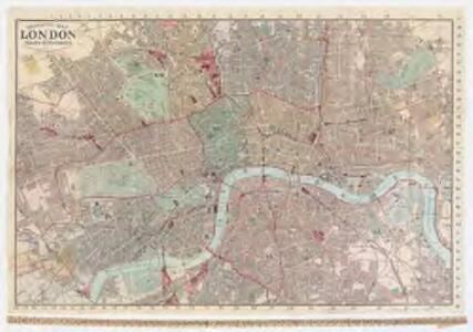 Indicator map of London : with the recent improvements, 1880