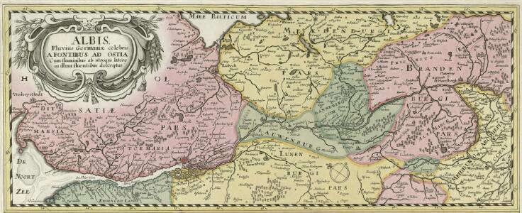 Albis Fluvius Germaniae celebris A Fontibus ad Ostia