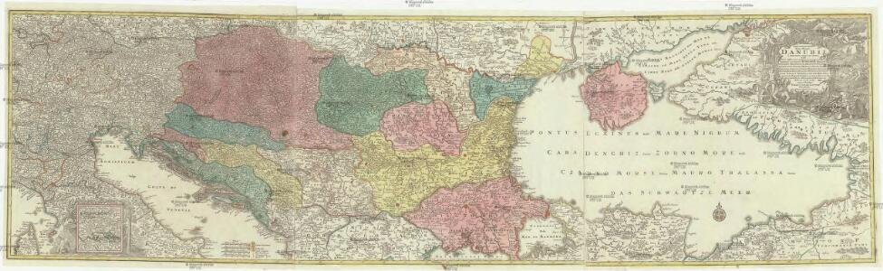 Tabula synoptica totius fluminis Danubii a fontibus usque ad ostia
