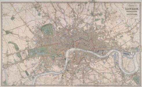 LAURIE'S PLAN OF LONDON, WESTMINSTER AND SOUTHWARK Trigonometrically Surveyed by JOHN OUTHETT