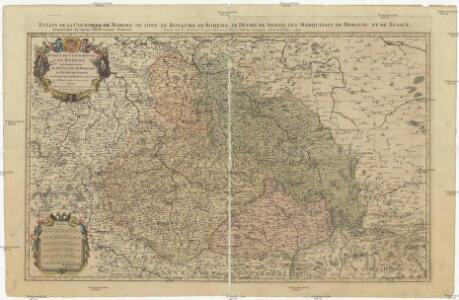 Estats de la couronne de Boheme qui comprennent le royaume de Boheme, le duché de Silesie et les marquisats de Moravie et de Lusace