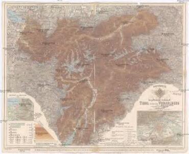 Handkarte der gefürsteten Grafschaft Tirol mit dem Lande Vorarlberg
