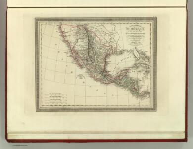 Carte Generale du Mexique et des Provinces-unis de l'Amerique Centrale.