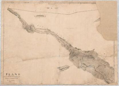 Plano de la parte del camino de occidente entre Tenasuca i la punta de la Mesa. 1850. Por Vicente de la Roche 1850