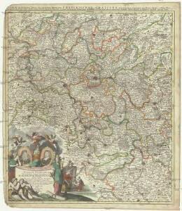 Circuli Franconicae pars occidentalis, exhibens simul integrum fere electoratum Moguntinum