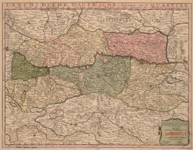 L'Archi Duché d'Autriche divisee en 8. Quartier