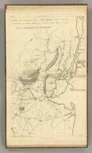 Northern Part of New Jersey, shewing the the American and British Armies after crossing the North River in 1776.