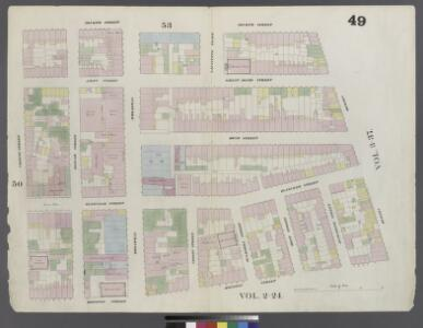 Plate 49: Map bounded by 4th Street, Bowery, Houston Street, Green Street