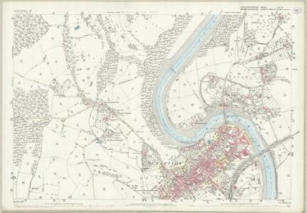 Gloucestershire LIV.10 (includes: Chepstow; St Arvans; Tidenham) - 25 Inch Map