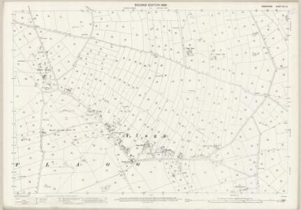 Derbyshire XXII.12 (includes: Ashford; Chelmorton; Flagg; Monyash; Sheldon; Taddington) - 25 Inch Map