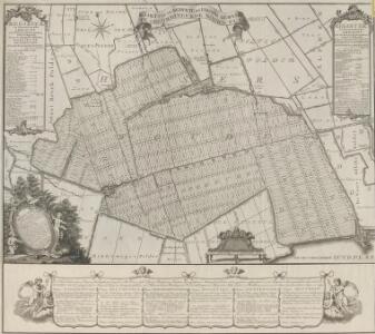Kaart van de bedykte en droog gemaakte gecombineerde Noord Plas