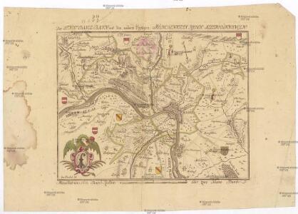Der Stadt Basel Bann, mit den undern Vogteyen, Münchenstein, Riehen, Klein Hünningen