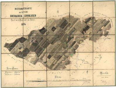 Porostní mapa revíru Tři Sekery-Lohhäuser