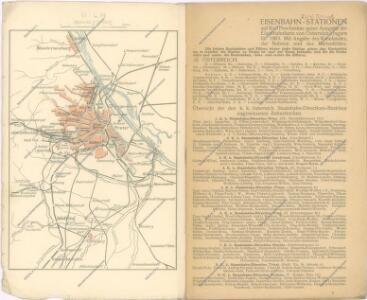 Eisenbahnkarte von Österreich-Ungarn 1905