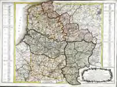 Carte des départemens du Nord du Pas de Calais de la Somme de l'Oise et de l'Aisne