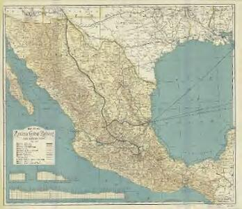 Map of the Mexican Central Railway and connections