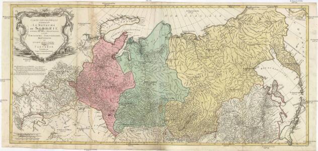 Carte géographique contenant le royaume de Siberie