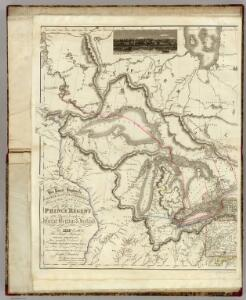 (West sheet) Map of the Provinces of Upper & Lower Canada with parts of the United States of America &c.
