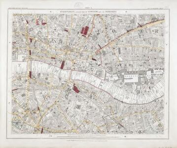 Standford's Library Map of London and its suburbs. Scale, 6 inches to 1 Eng. statute mile, or ... 1 : 10,560.