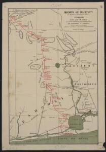 Mission au Dahomey (21 novembre-28 décembre 1889). Itinéraire suivi par M. Bayol de Kotonou à Abomey
