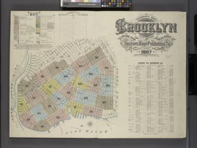 Insurance Maps of the Brooklyn city of New York Volume Four. Published by the Sanborn map co. 117, Broadway, New York. 1887.