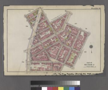 [Plate 33: Bounded by Barrow Street, Bleecker Street, Cornelia Street, Sixth Avenue, W. 3rd Street, Sullivan Street, Bedford Street, Macdougal Street, King Street, Varick Street and Second Avenue Extension.]