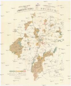Přehledná mapa velkostatku Jindřichova Hradce