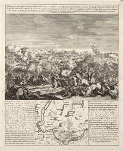Abbildung der sehr grossen und blutigen Feldschlacht, welche am 25. August 1758 bei Zorndorf, ohnweit Cüstrin, zwischen der König. Preussischen Armée, unter Se. Königl. Maj. Höchsteigener Anführung, und der Russischen, unter Commando des Generals von Fermor, vorgefallen. bei welcher Se. König. Maj. abermal einen vollkommenen Sieg erfochten, ohnerachtet der grossen Überlegenheit der Feinde, sowol an Mannschaft als Geschütze, und der vorteilhaften Stellung, welche sie zwischen Wäldern und Morästen genommen