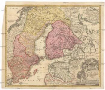 Regni Sueciae in omnes suas subjacentes provincias accurate divisi tabula generalis