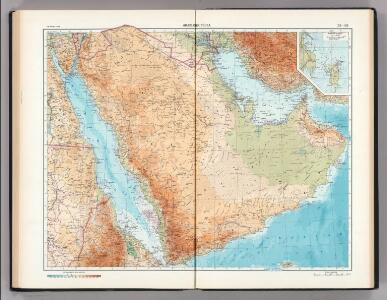 152-153.  Arabian Peninsula.  Bahrein (Bahrain) Islands.  The World Atlas.