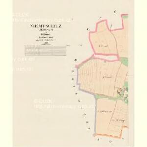 Niemtschitz (Němtssjc) - c5125-1-001 - Kaiserpflichtexemplar der Landkarten des stabilen Katasters