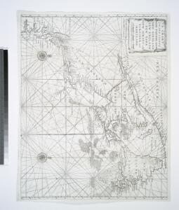 A chart of the sea coast of New Foundland, New Scotland, New England, New York, New Jersey, with Virginia and Maryland.