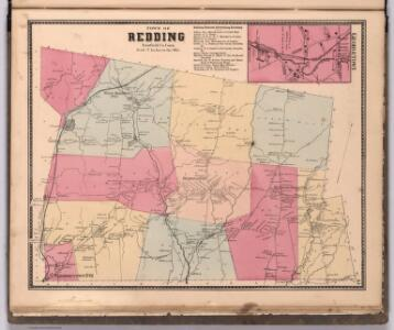 Town of Redding, Fairfield County, Connecticut.  (inset) Georgetown.