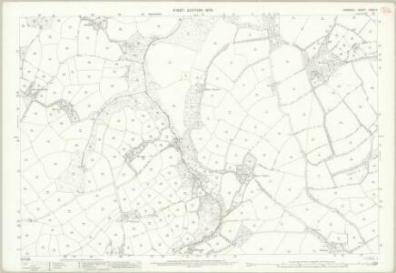 Cornwall LXXVII.2 (includes: Budock; Constantine; Mawnan) - 25 Inch Map