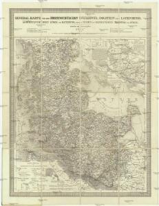 General-Karte von den Herzogthümern Schleswig, Holstein und Lauenburg, den Füstenthümern Lübeck und Ratzeburg, und den freien und Hansestädten Hamburg und Lübek